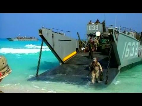 U.S. Marines Amphibious Landing With Landing Craft Utility