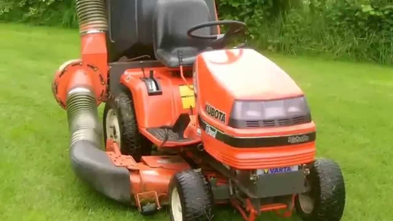 Kubota Lawn Tractor >> KUBOTA G1900 4WS ride on tractor lawn mower walk around & start up - YouTube