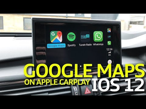 How To Use Google Maps On Apple Carplay With Ios 12 Youtube