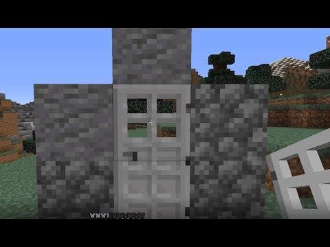 Minecraft 1.14   HOW TO MAKE IRON DOOR (EASY)