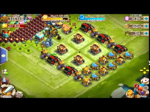 Castle Clash - Everything Lvl 20... Max Level Buildings!!!!!!!  061115