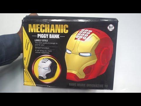 Avenger Super Hero Iron Man ATM Piggy Bank
