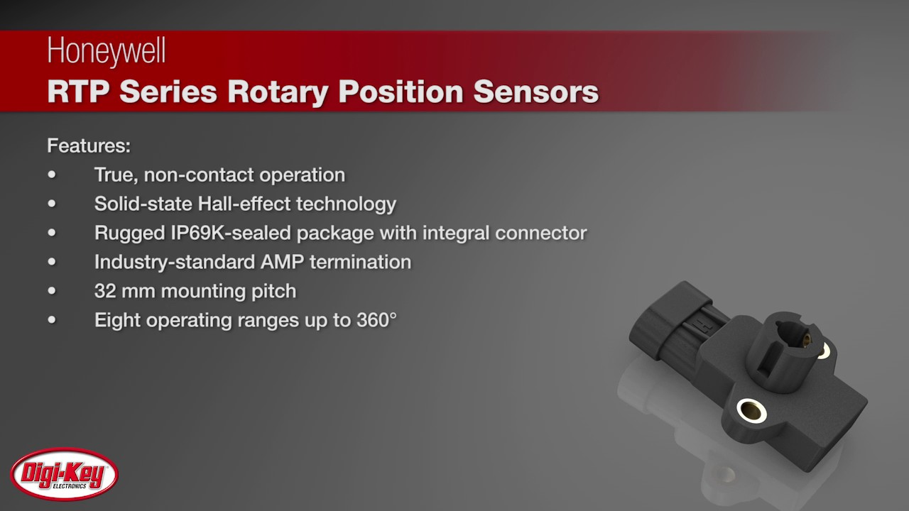 Honeywell Rtp Series Rotary Position Sensor Digi Key Daily Youtube Halleffect Integrated Circuit Ic Sensors