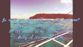 Meant to Be - Bebe Rexha Ft. Florida Georgia Line (lyrics video)