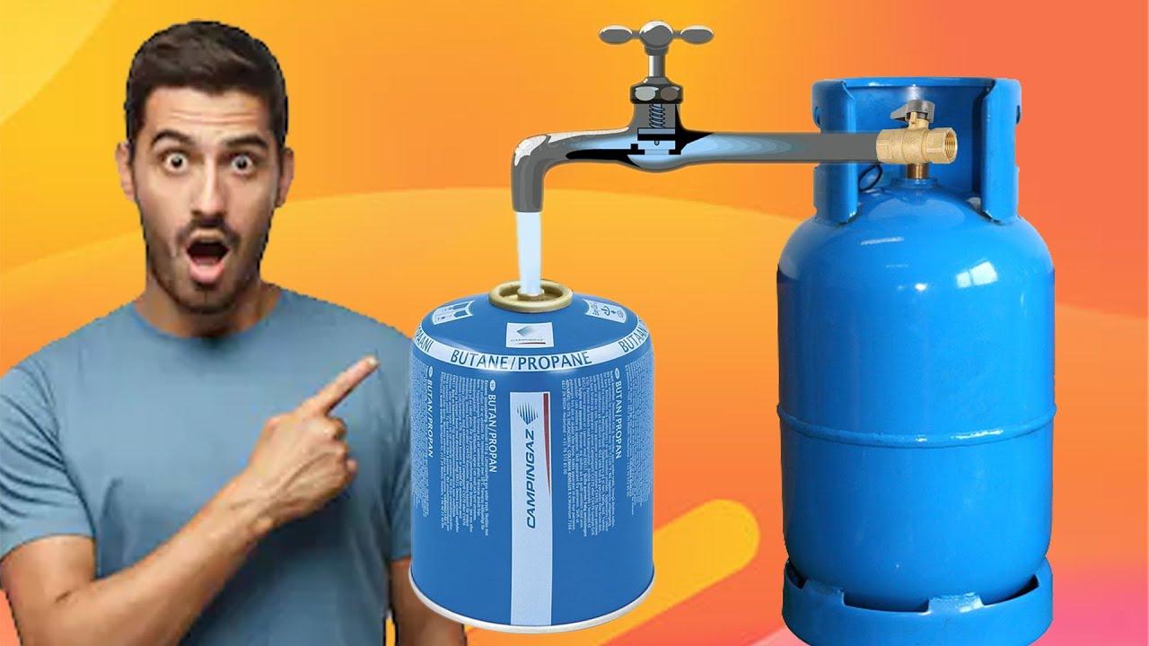 How To Fill Gas Cylinders Campingaz بدل ما ترميها طريقة إعادة تعبئة اسطوانات الغاز كامبينجاز Youtube