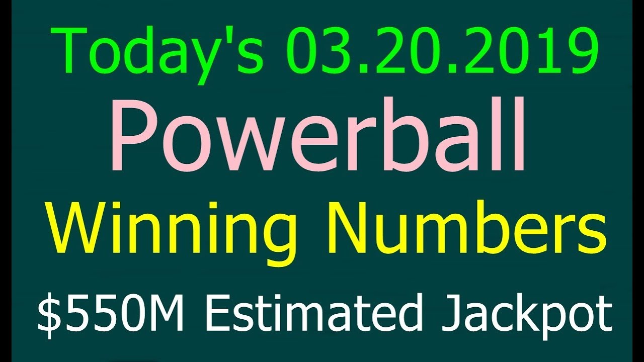Today Powerball Winning Numbers 20th March 2019 Powerball Drawing Tonight 3 20 2019 Youtube