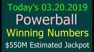 Today Powerball Winning Numbers 20th March 2019. Powerball drawing tonight 3/20/2019