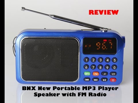 BNX New Portable MP3 Player Speaker with FM Radio