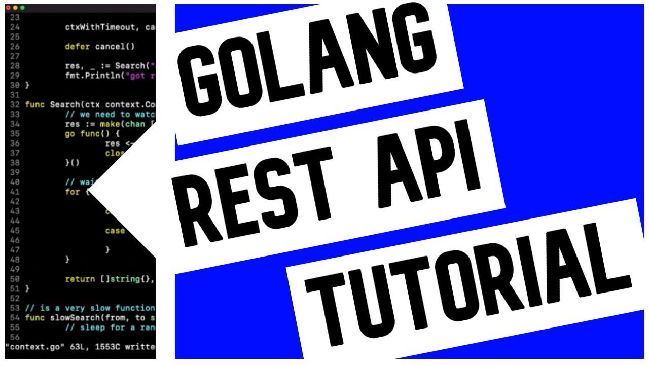 Go (Golang) REST API Example (Without Framework)