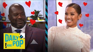 "Shaquille O'Neal Shoots His Shot With ""Daily Pop"" Guest Host Rocsi 