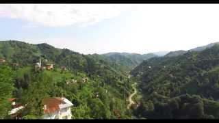 Rize Çayeli Büyükköy drone ile havadan çekim