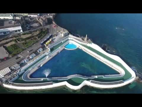 Penzance Jubilee Pool being refilled after its refurbishment. May 2016