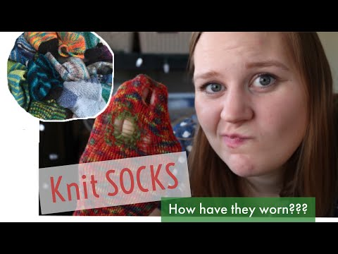 KNIT SOCK DRAWER TOUR | Best Yarns, Blends And How Have They Worn??