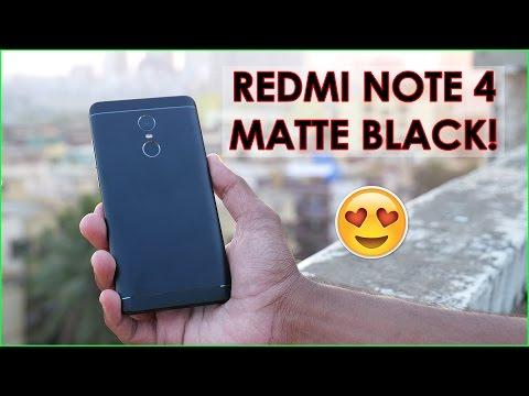 REDMI NOTE 4 MATTE BLACK UNBOXING & CLOSER LOOK IN 4K!