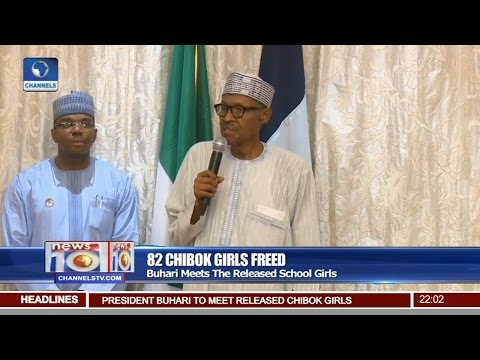 News@10: Buhari Meets 82 Chibok Girls Freed 07/05/17 Pt 1