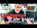 watch he video of Queen - Lost Opportunity - Guitar Intro Tutorial (Guitar Tab)
