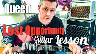 Queen - Lost Opportunity - Guitar Intro Tutorial (Guitar Tab)