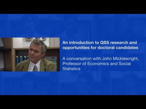 A conversation with John Micklewright, Professor of Economics and Social Statistics