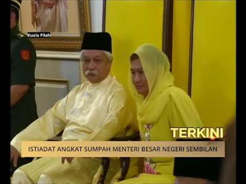 Istiadat angkat sumpah Menteri Besar Negeri Sembilan