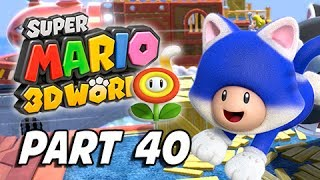 Super Mario 3D World Walkthrough Part 40 - World Flower (100% Green Stars & Stamps)