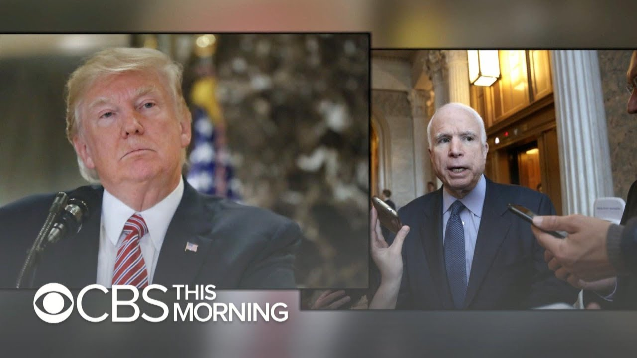 Why is Trump picking a one-sided fight with late Sen. John McCain?