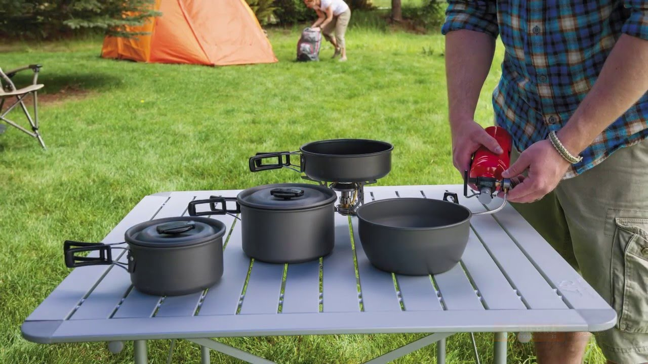 ALPS Mountaineering Roll Up Camp Table   Aluminum