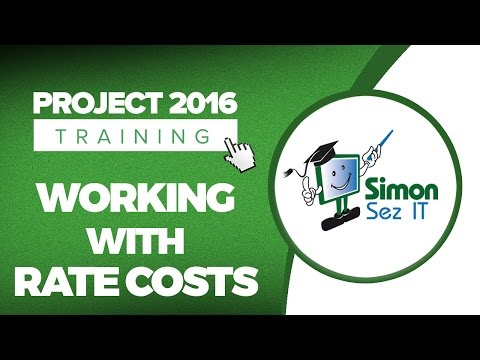 How to Work with Rate Costs in Microsoft Project 2016