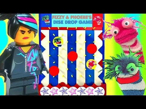 The Lego Movie 2 Second Part Play Fizzy and Phoebe Disk Drop Game |