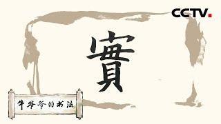 """《牛爷爷的书法》枣花至小能成实——唱儿歌学写""""实"""" CCTV少儿"""