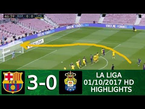 Barcelona vs Las Palmas 3 : 0   All Goals & Extended Highlights   La Liga 01 10 2017 HD