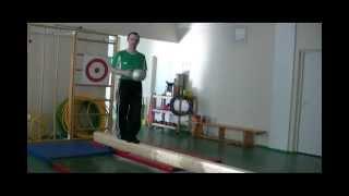 Упражнения на гимнастическом бревне
