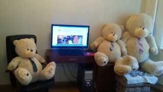 Бежевые большие плюшевые мишки Тедди(, 2015-04-02T07:01:23.000Z)