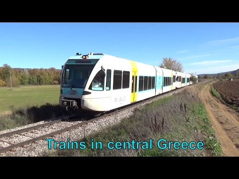 Trains in central Greece (13/11/2016) Dedicated to OMIYAEXPRESS!