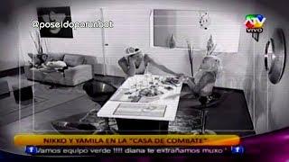 COMBATE: Yamila y Nikko Ponce Coquetean en la Casa de Combate 17/01/14