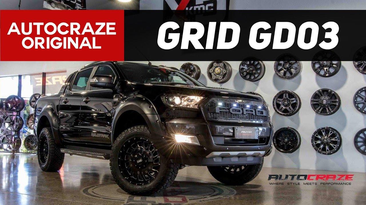 Ranger Fx4 For Sale >> THE TERMINATOR // GRID GD03 Rims // Ford Ranger 4x4 Wheels | AutoCraze 2017 - YouTube