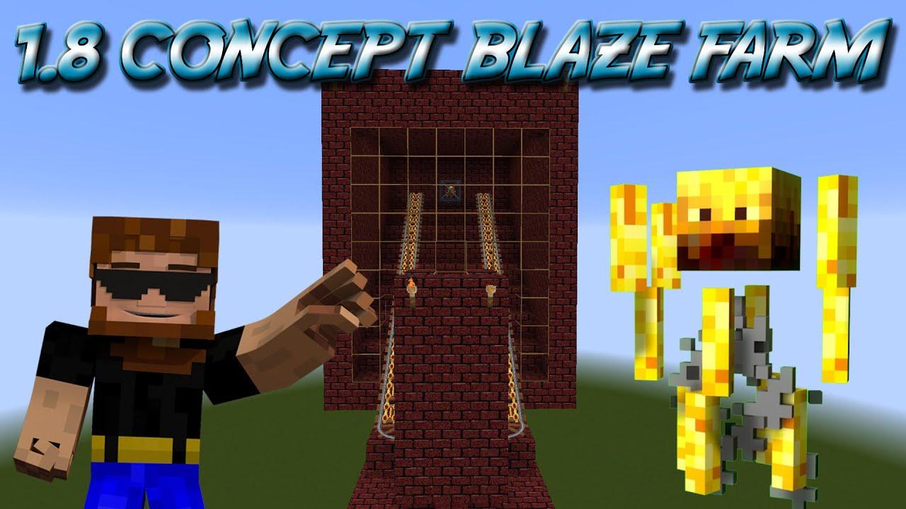 Minecraft Blaze Farm Concept 1.8 - Very Resource Friendly ...