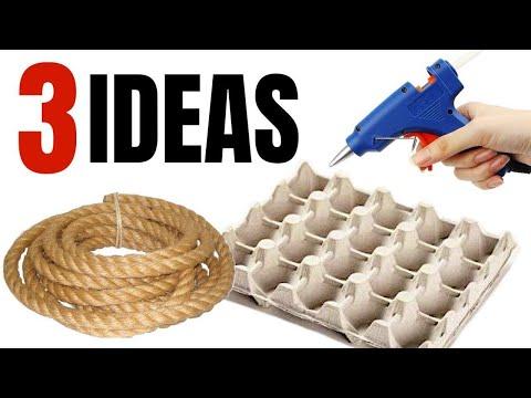 3 IDEAS CON YUTE | MANUALIDADES CON CUERDA | TELA DE YUTE