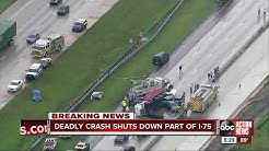 Deadly crash involving dump truck shuts down I-75 south in Tampa for hours