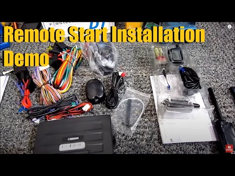 compustar remote start and security installation demonstration   anthonyj350
