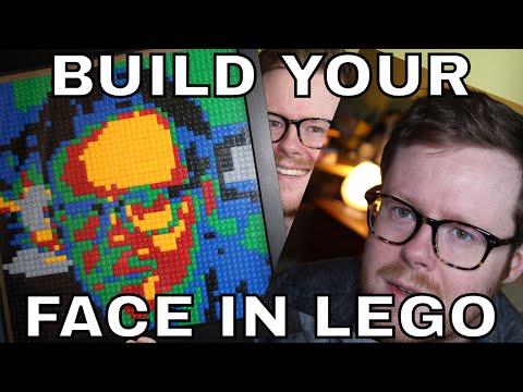 Make Your Own Lego Mosaic Portrait for $30 - A cheap way to make your face into Lego!