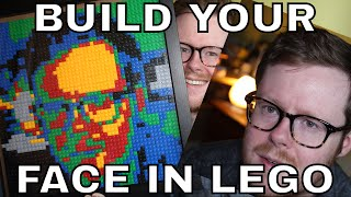 Make Your Own LEGO Mosaic Portrait for $30 - A cheap way to make your face out of LEGO!