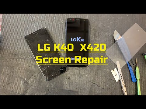 LG K40 - X420 - How To Repair - Glass LCD - Screen - Charging Port