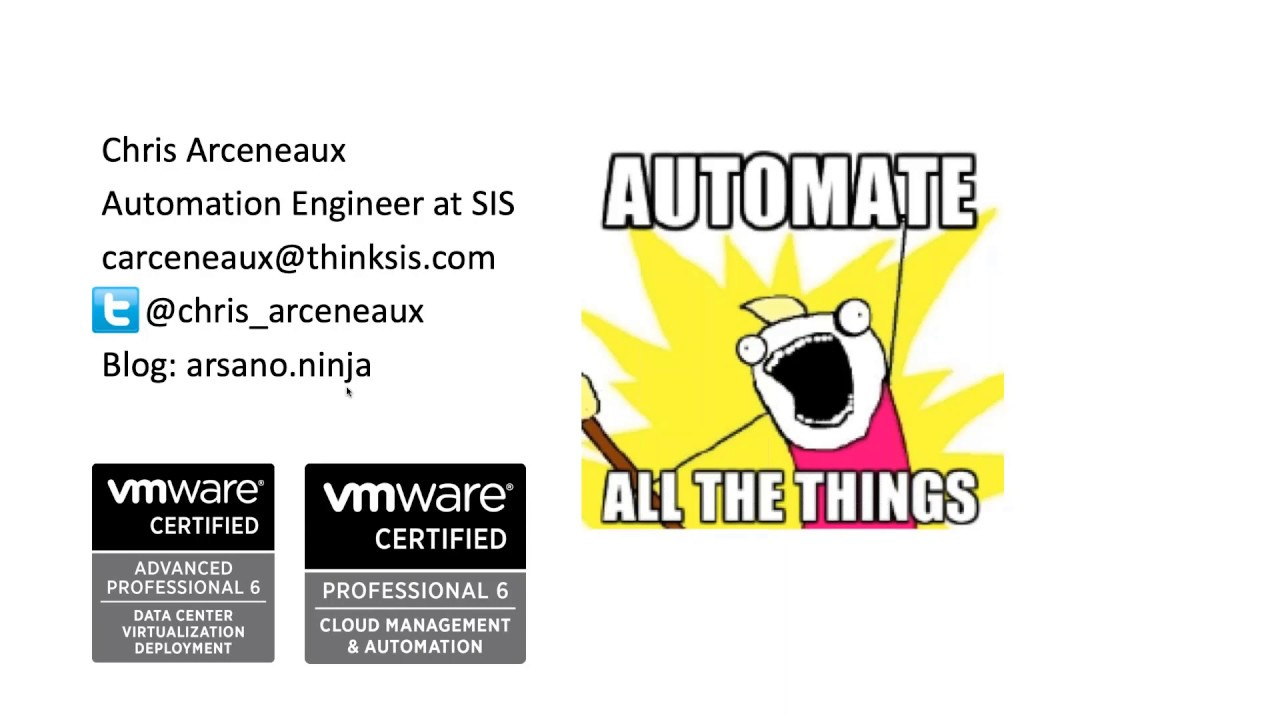 VMware vSphere Automation via Ansible and Gitlab CI with Chris Arceneaux  (@Chris_Arceneaux)