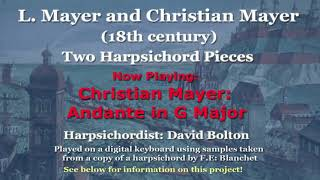M. L. Mayer, M. Christian Mayer: Two harpsichord pieces