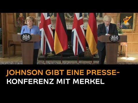 Johnson und Merkel halten Pressekonferenz nach Treffen ab