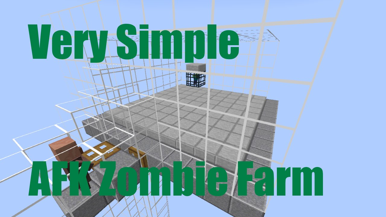 how to build simplest afk zombie xp farm in minecraft 1 8 youtube