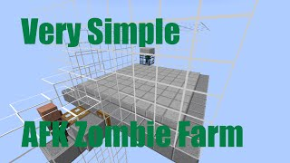 How to Build Simplest AFK Zombie XP Farm in Minecraft 1.8