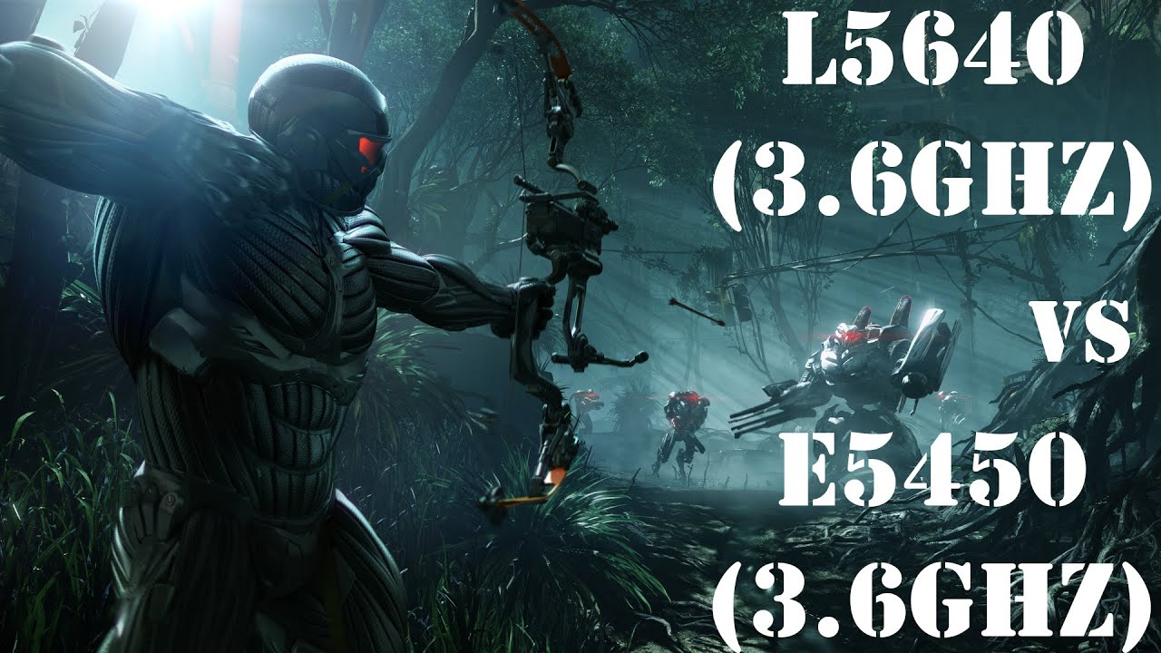 Crysis 3 (Max Settings), Xeon L5640 VS Xeon E5450