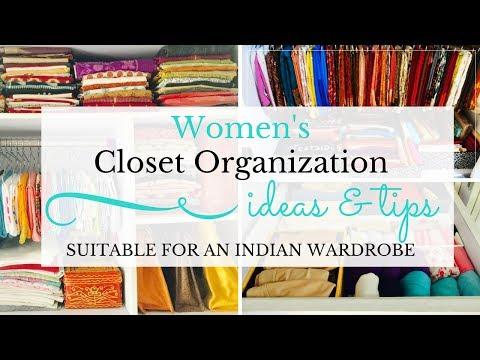 Women's Closet Organization - Organize salwar kameez, dresses, sarees, kurtas to optimize space