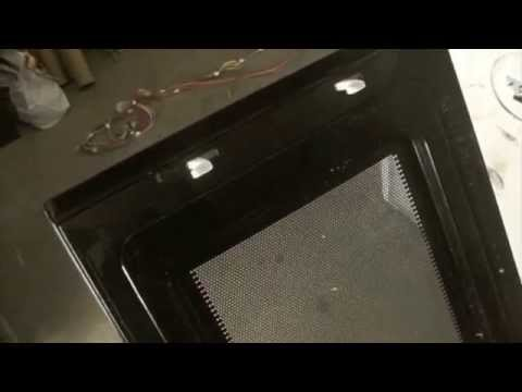 how to replace a microwave handle